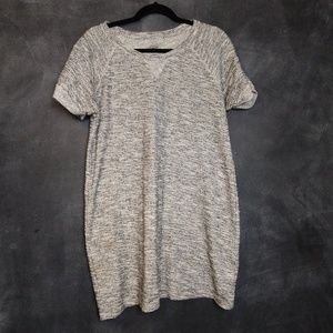 STYLE & CO | Gray & White Textured Shift Dress LG